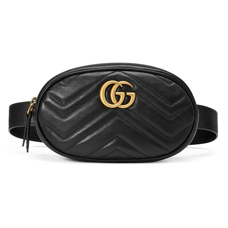 76f022b84fae Gucci Black Matelasse Gg Marmont Belt Bag. Gucci GG Marmont Small Matelasse  Leather ...