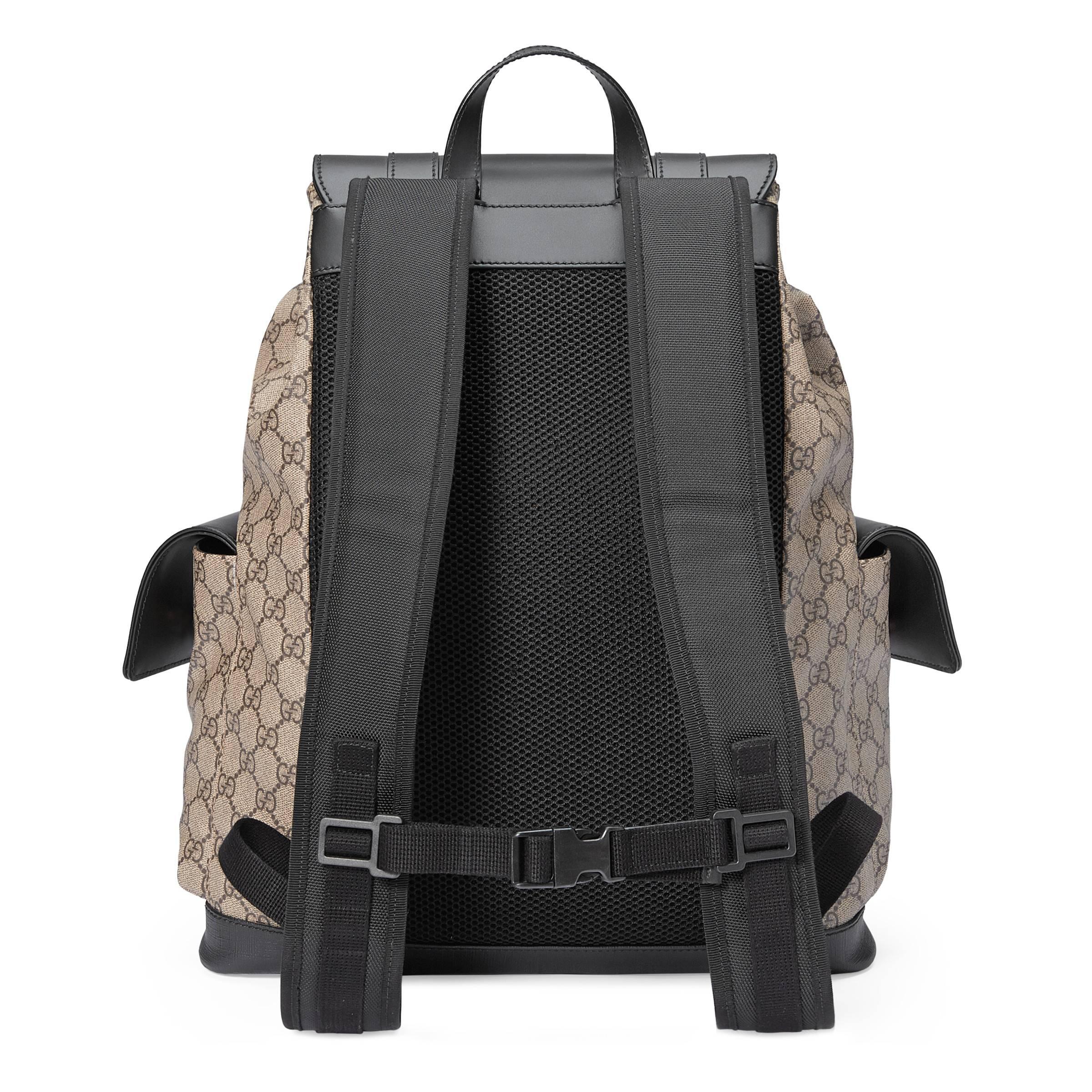 2ab0039a7 Gucci - Natural Mochila GG Supreme Suave for Men - Lyst. Ver en pantalla  completa
