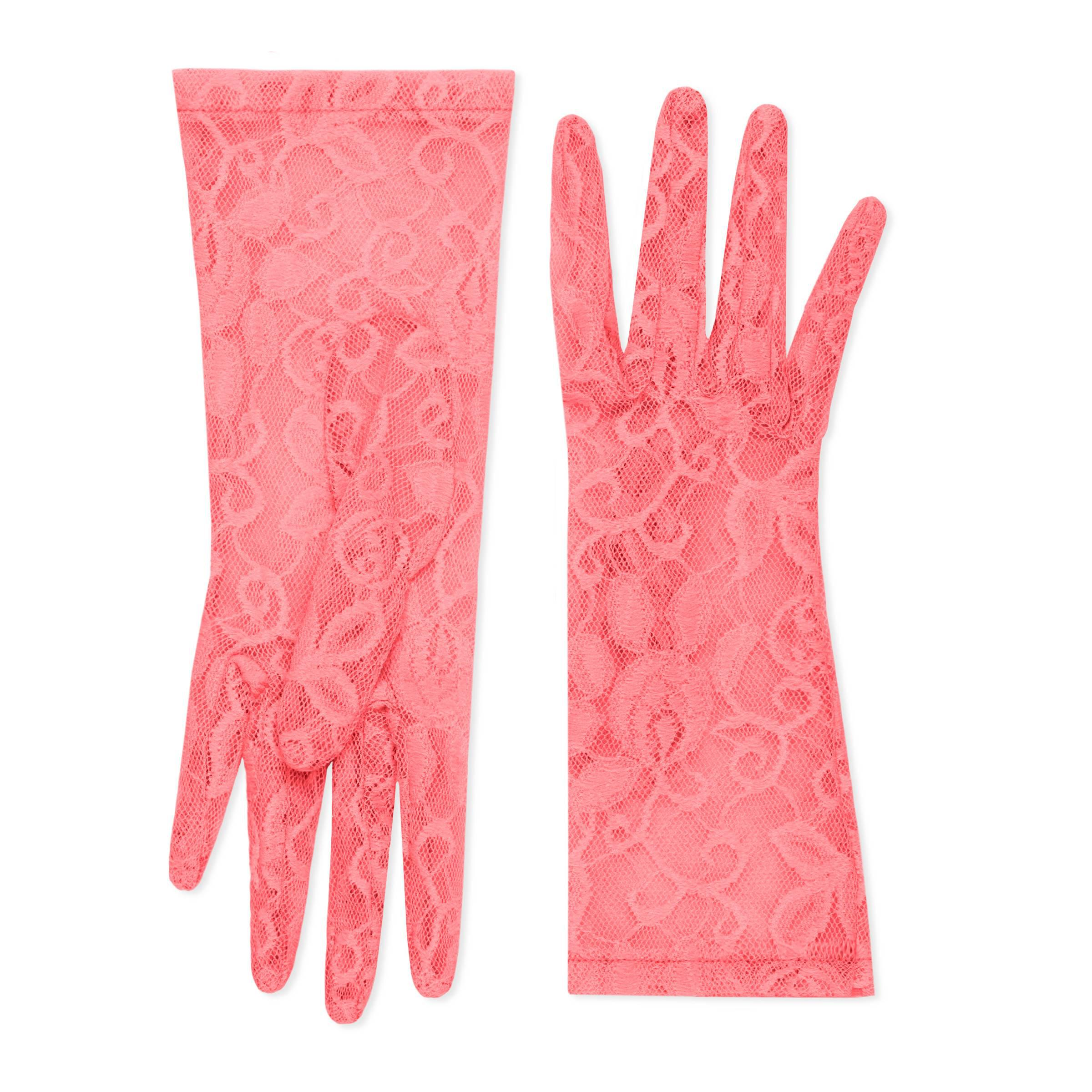 d5634c2509906 Gucci Handschuhe aus Tüll mit Blumen-Motiv in Pink - Lyst