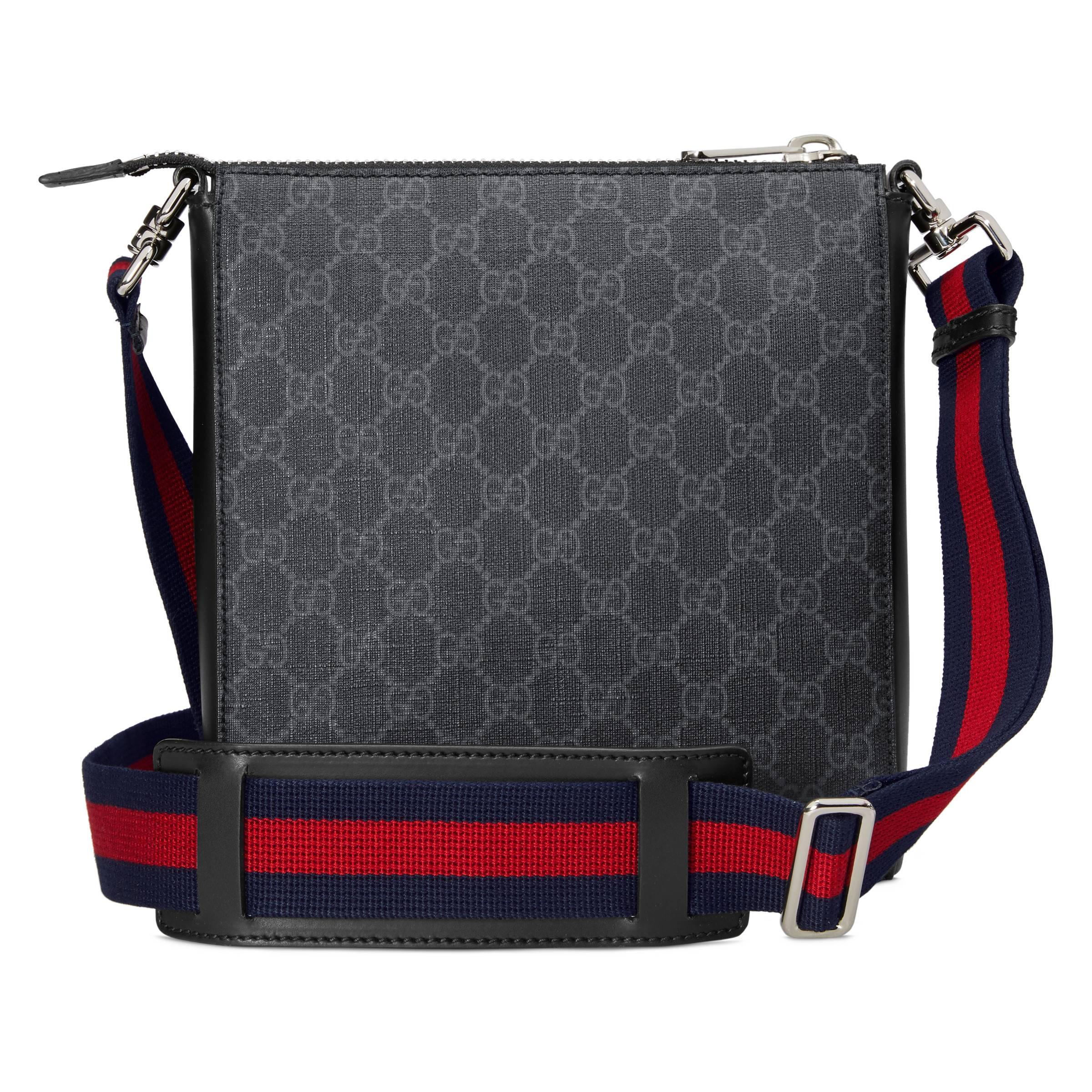 6106f71a16f Gucci - Black Sac à bandoulière Suprême GG petite taille for Men - Lyst.  Afficher en plein écran