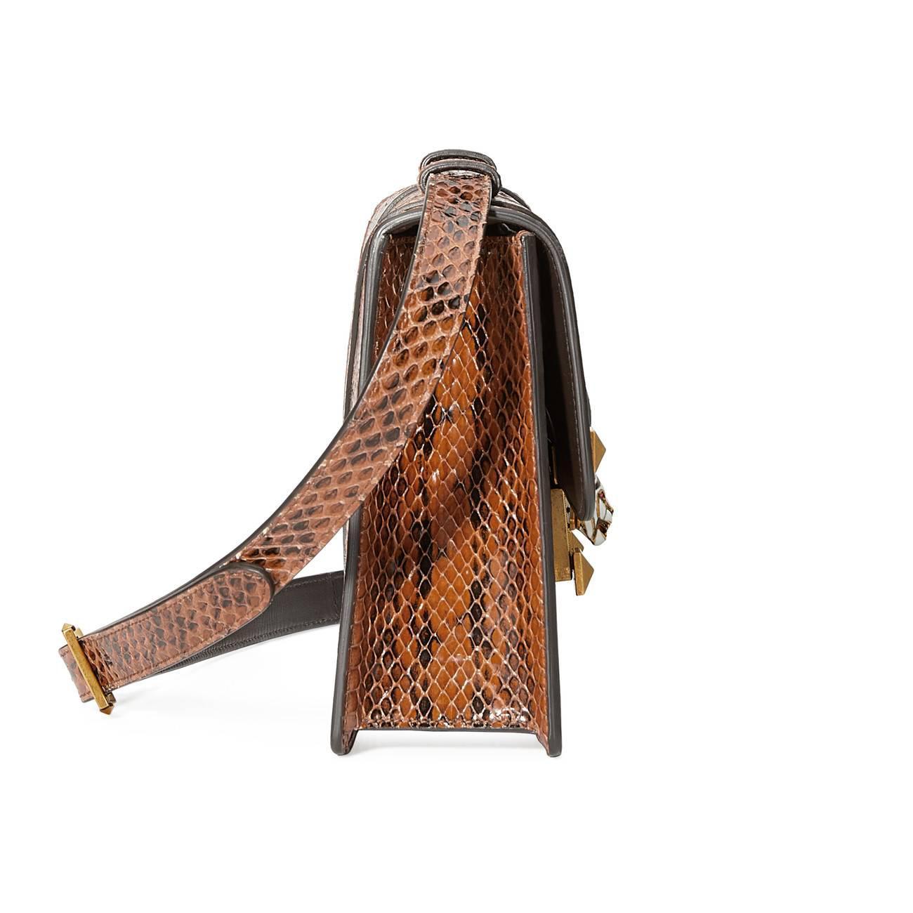 539c54a06f0 Lyst - Gucci Osiride Snakeskin Shoulder Bag in Brown