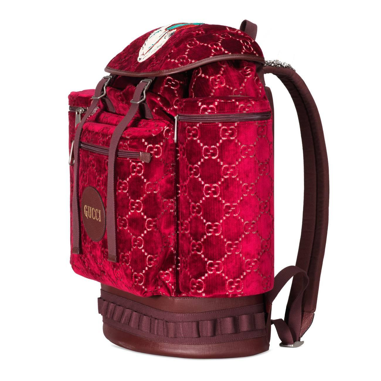 c242a16acf2c Gucci - Brown Large GG Velvet Backpack for Men - Lyst. View fullscreen