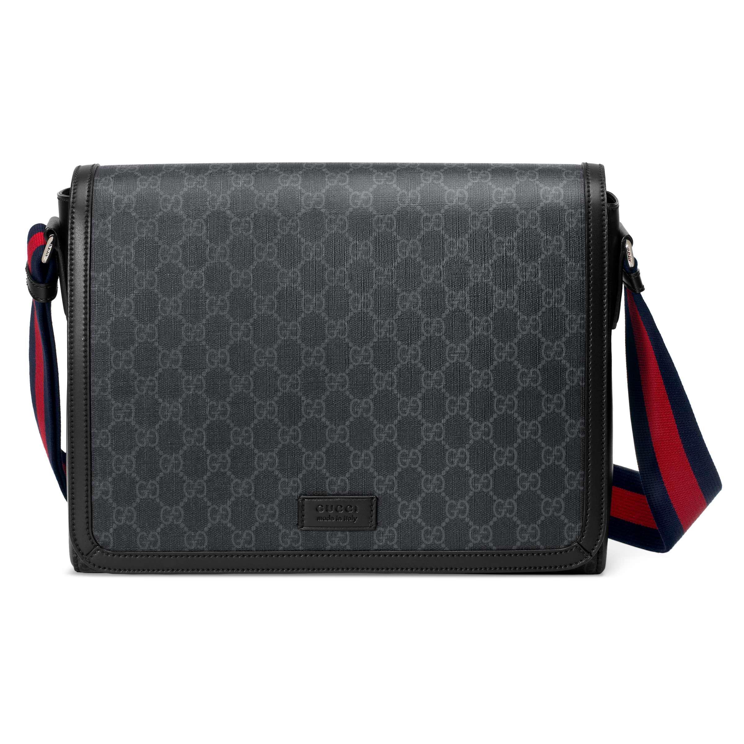 11bf149c9a Sac porté épaule GG Supreme Gucci pour homme en coloris Noir - Lyst