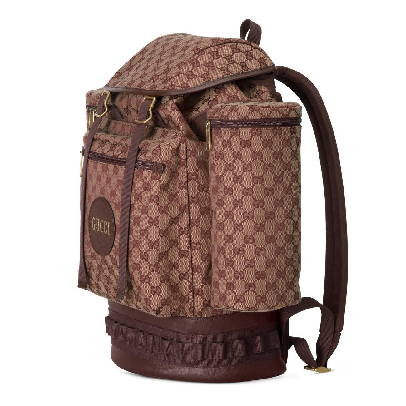 b4ae52eec396 Gucci - Brown Large Gg Canvas Backpack - for Men - Lyst. View fullscreen