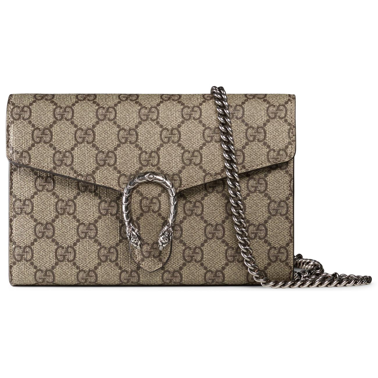 aa959c5db9ce Gucci Dionysus GG Supreme Chain Shoulder Bag - Lyst
