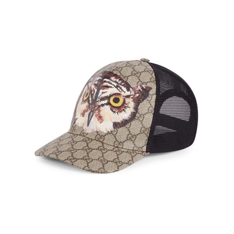 Gucci Owl Print Gg Supreme Baseball Hat for Men - Lyst ce83f514d375