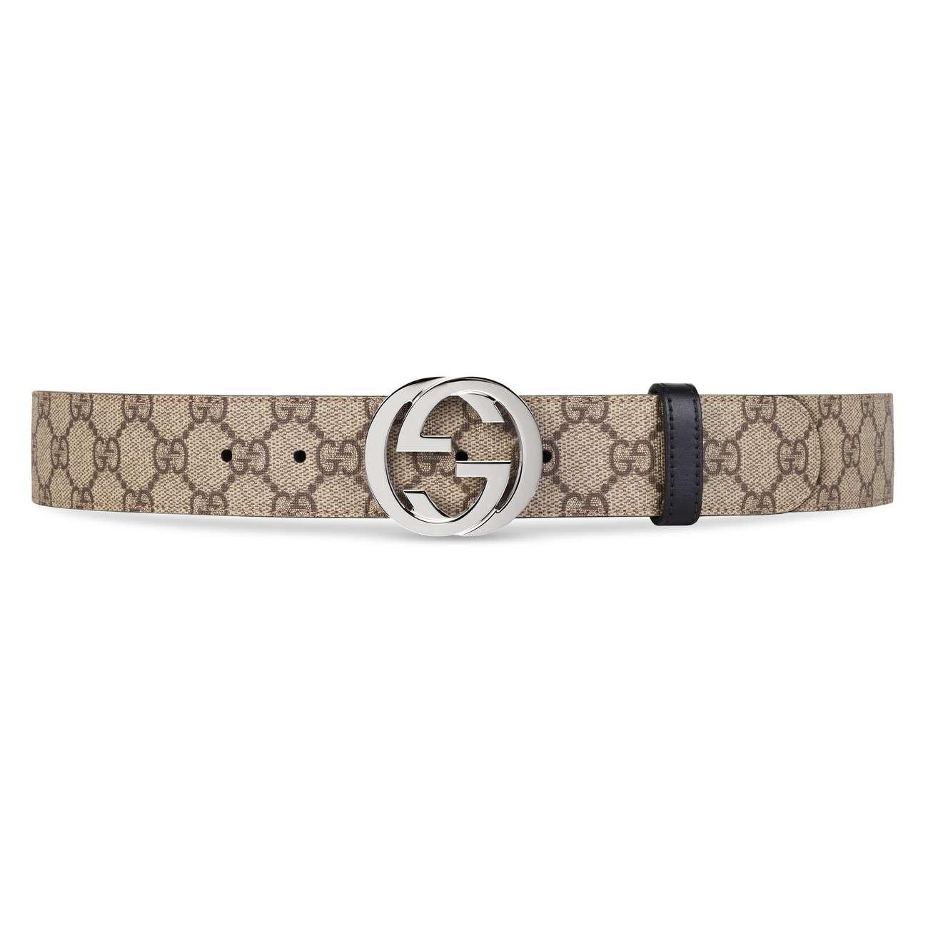 3b61e6ba007 Lyst - Gucci Reversible GG Supreme Belt in Black for Men
