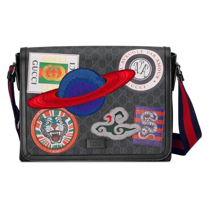 Lyst - Sac à bandoulière Suprême GG avec motif Courrier et rabat ... 523b4030e9a