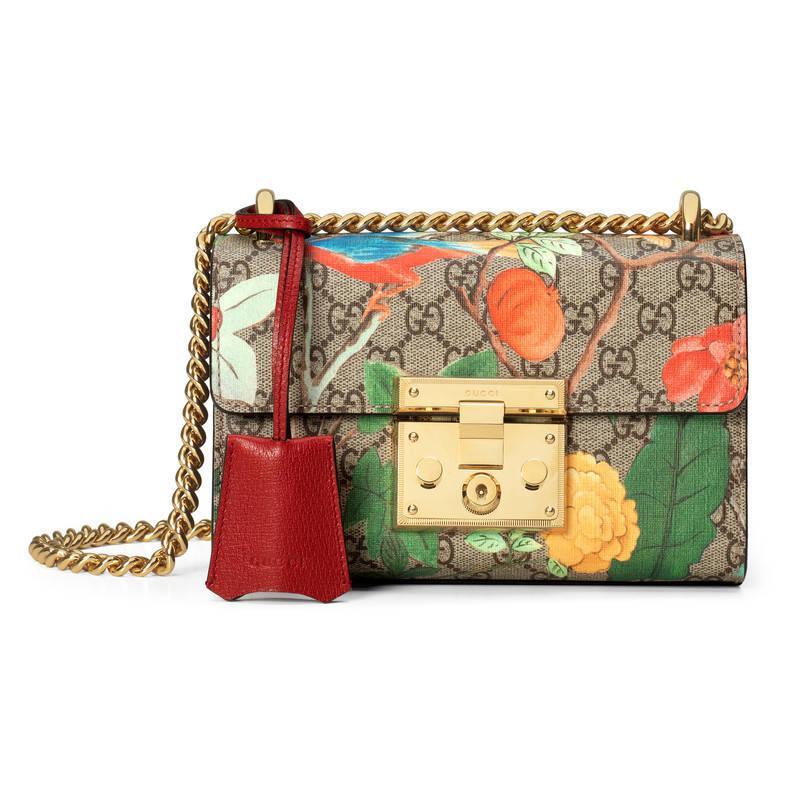 337e92906 Gucci Tian Padlock Shoulder Bag in Metallic - Lyst