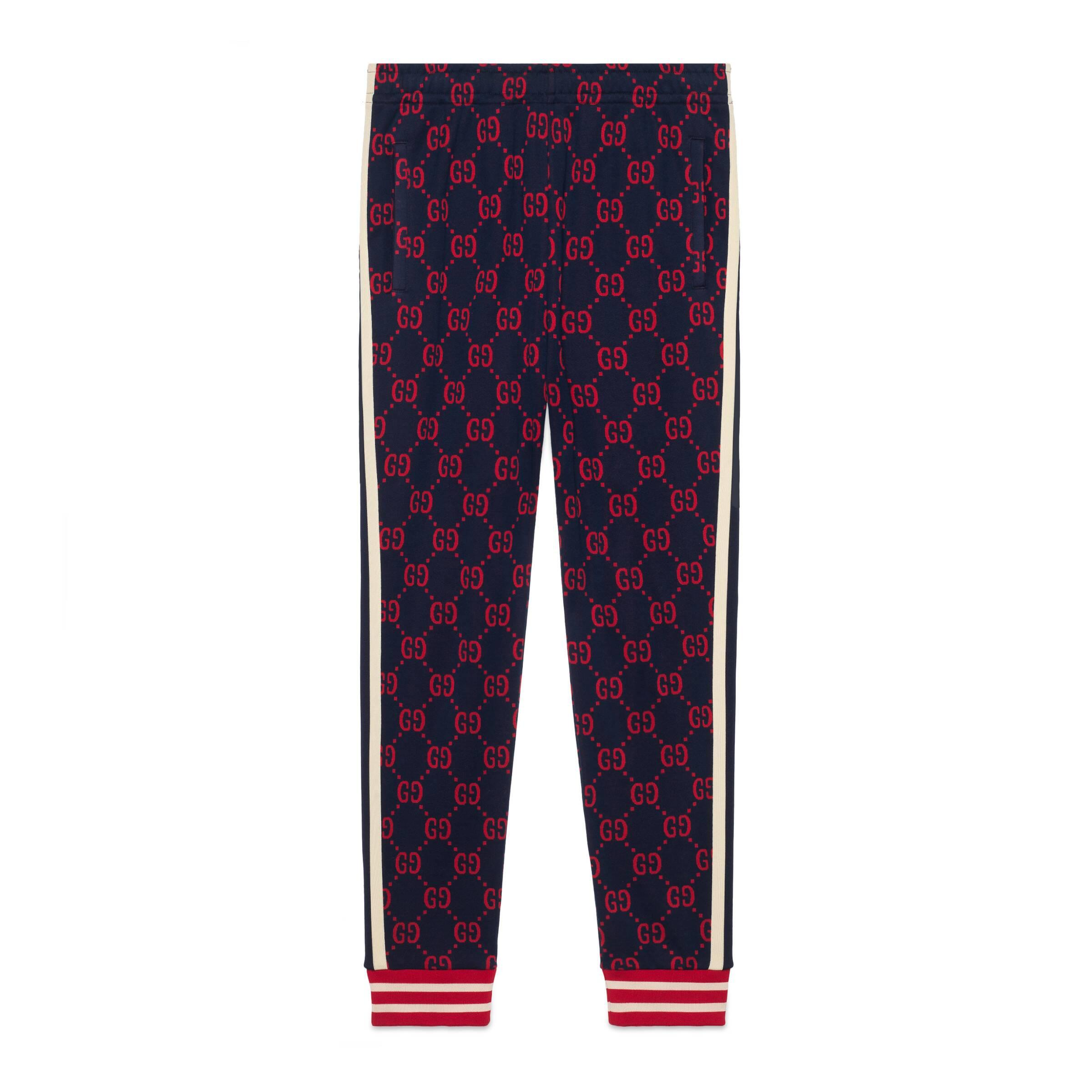 87811f225 Gucci - Blue GG Jacquard jogging Pants for Men - Lyst. View fullscreen