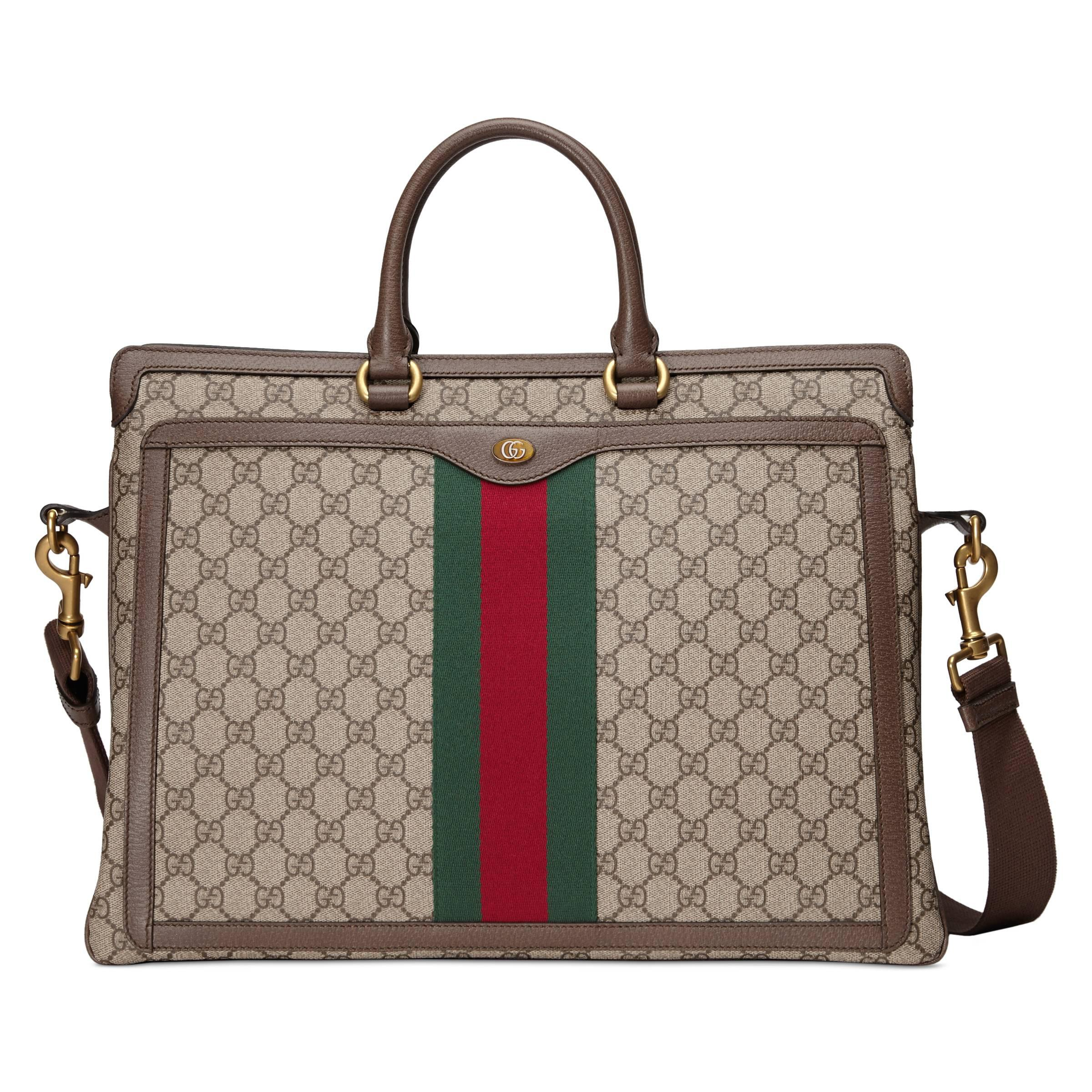 b4d9b78d2 Gucci Ophidia GG Briefcase in Natural for Men - Lyst