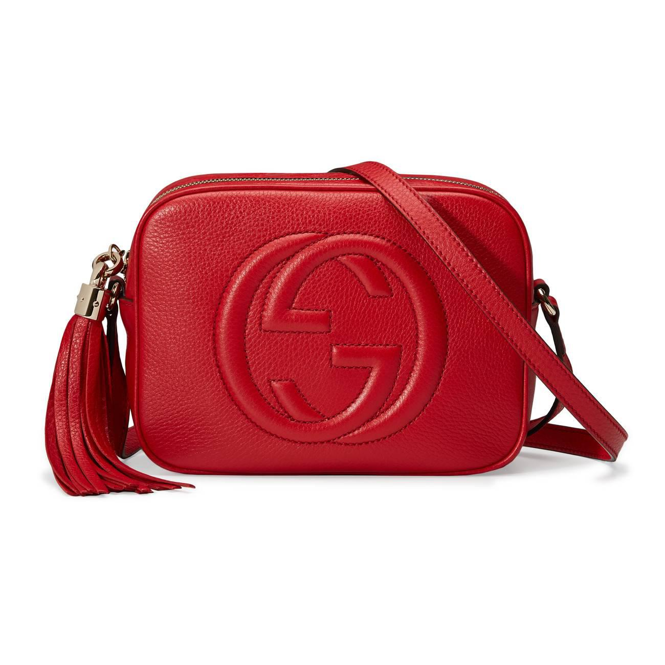90efbd6aca0c Lyst - Gucci Soho Small Leather Disco Bag in Red - Save ...