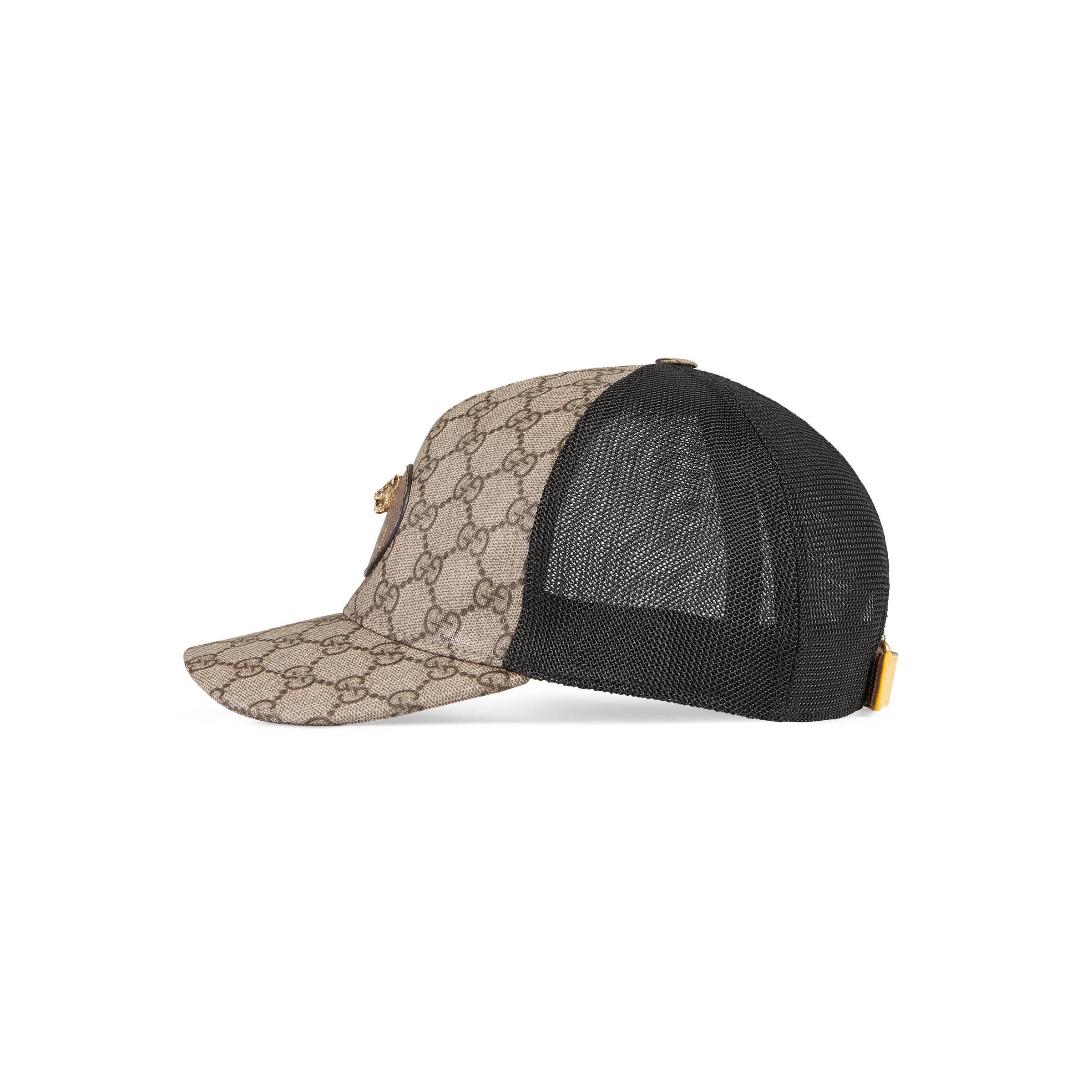 d44bb4be07f Gucci - Brown Gg Supreme Baseball Hat for Men - Lyst. View fullscreen