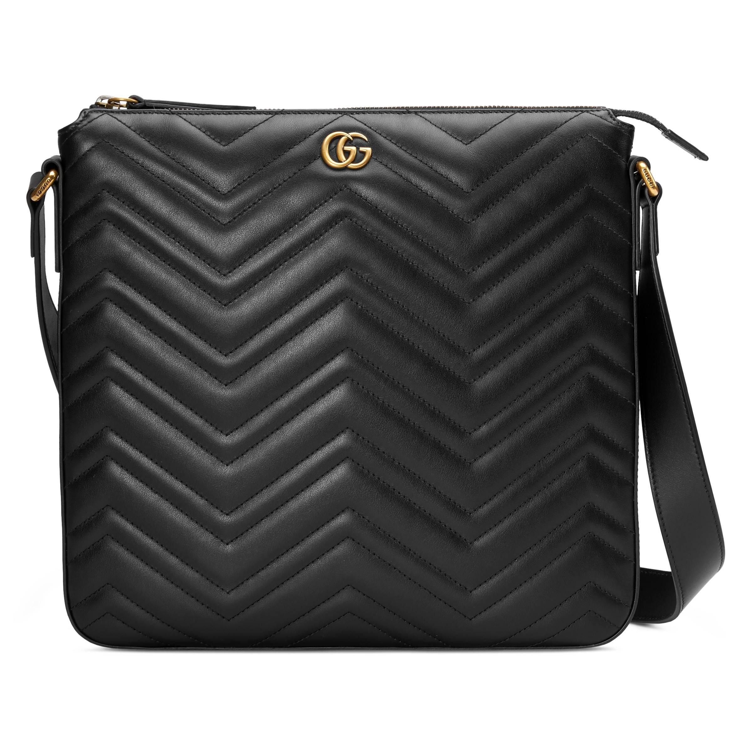 3b3ebd993d9 Lyst - Sac à bandoulière GG Marmont Gucci pour homme en coloris Noir