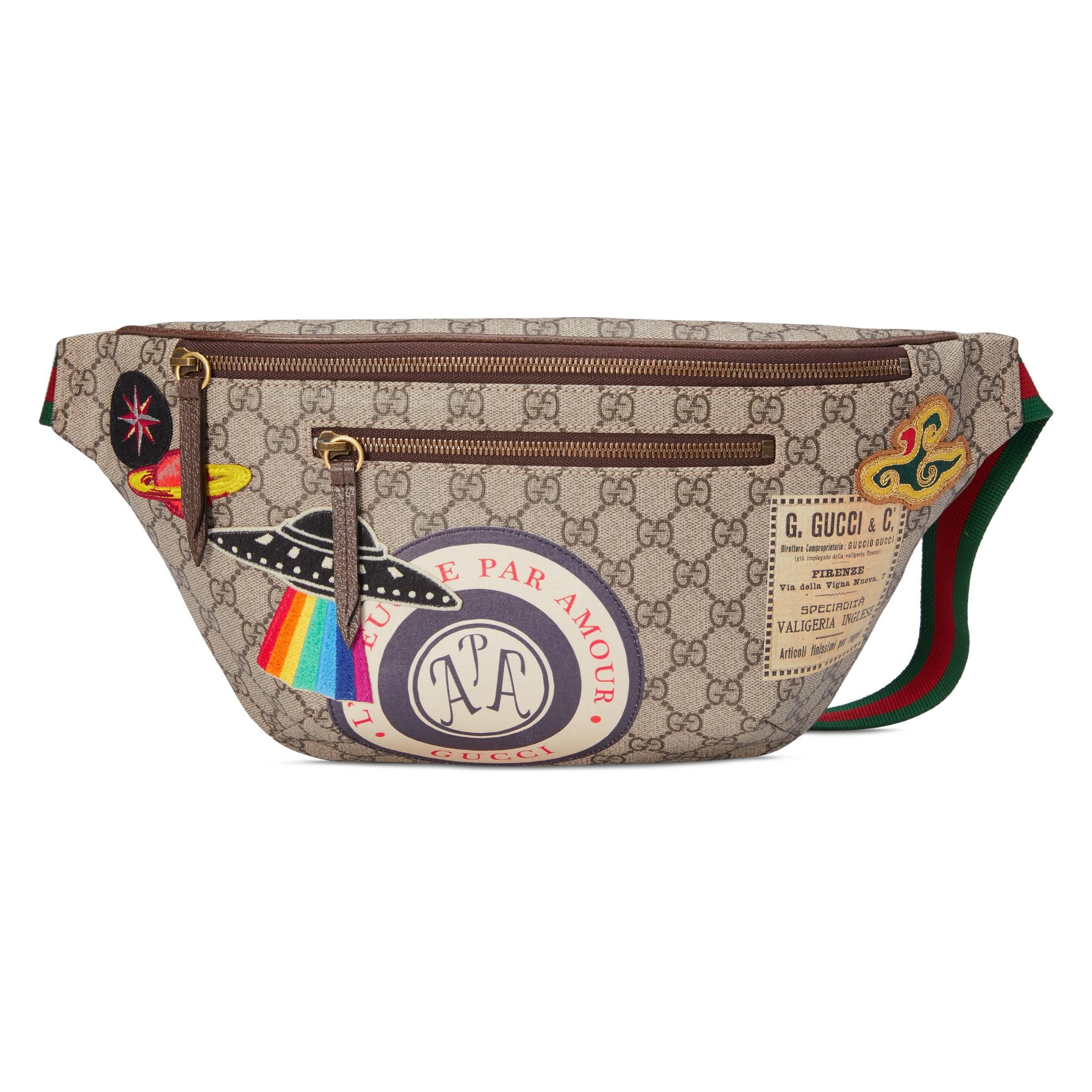 3c3e49909df Lyst - Sac ceinture Suprême GG avec motif Courrier Gucci pour homme ...