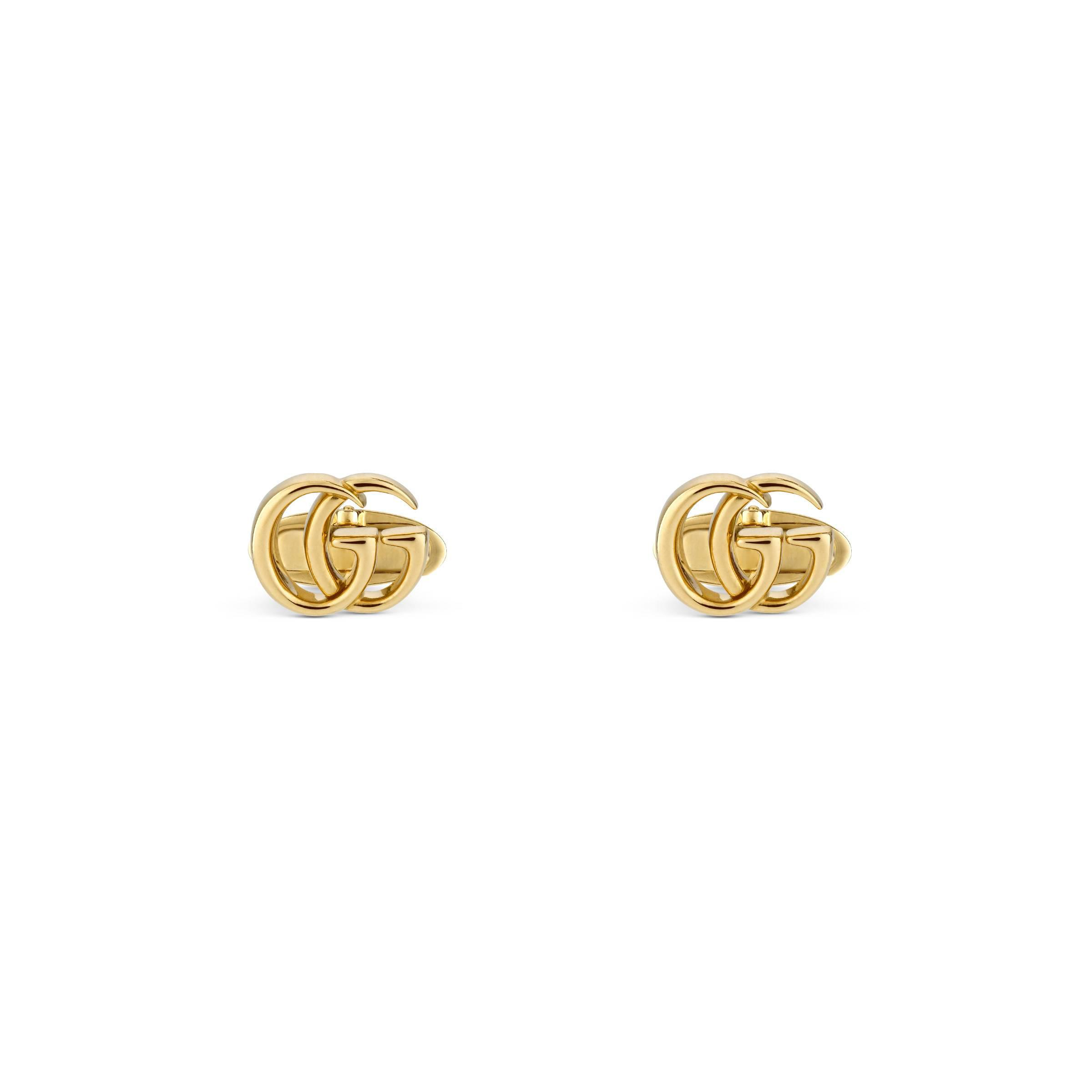 35cdd1ada2a62 Gucci GG Running Yellow Gold Cufflinks in Metallic for Men - Lyst