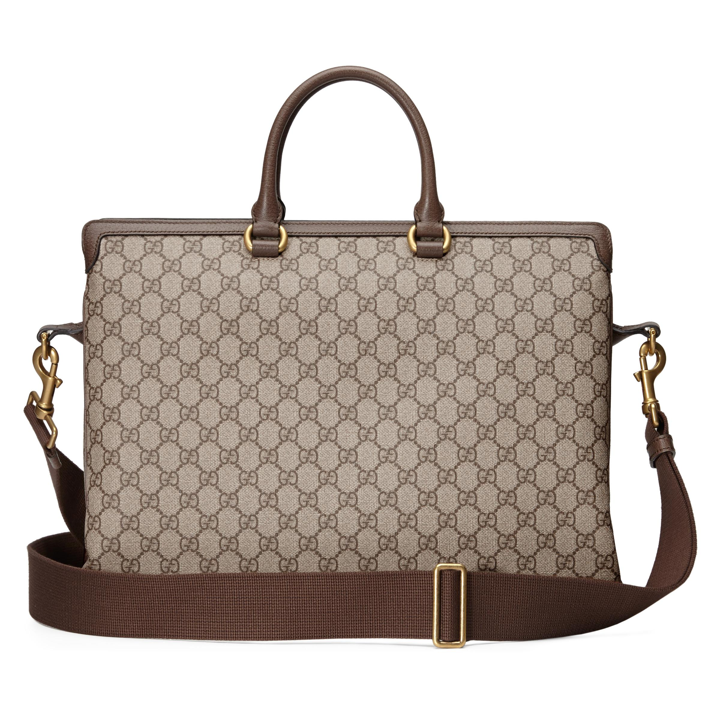 184b7fb2a14 Gucci - Natural Ophidia GG Briefcase for Men - Lyst. View fullscreen