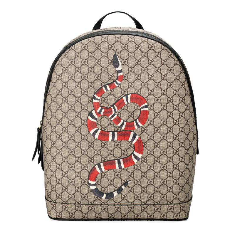 Gucci Kingsnake Print Gg Supreme Backpack for Men - Lyst 4412a6b8b1