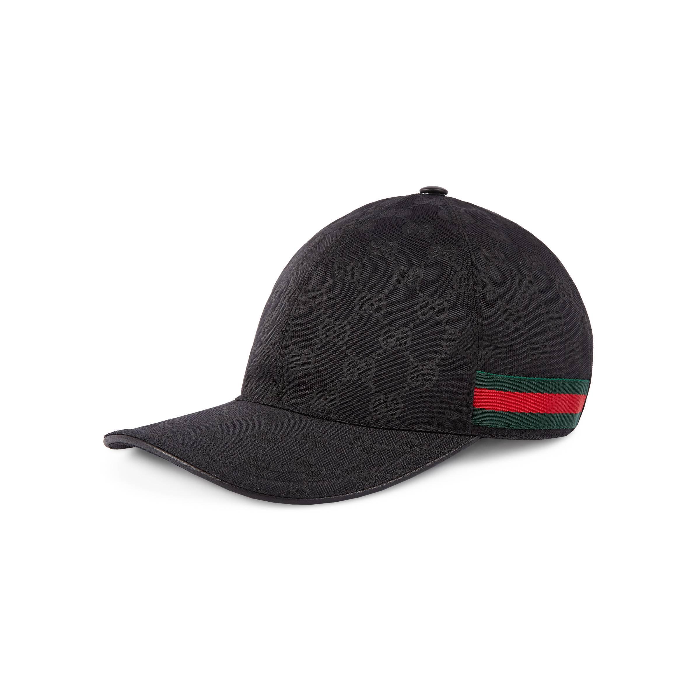 c608421b2f5 Gucci Original GG Canvas Baseball Hat in Black for Men - Save 43% - Lyst