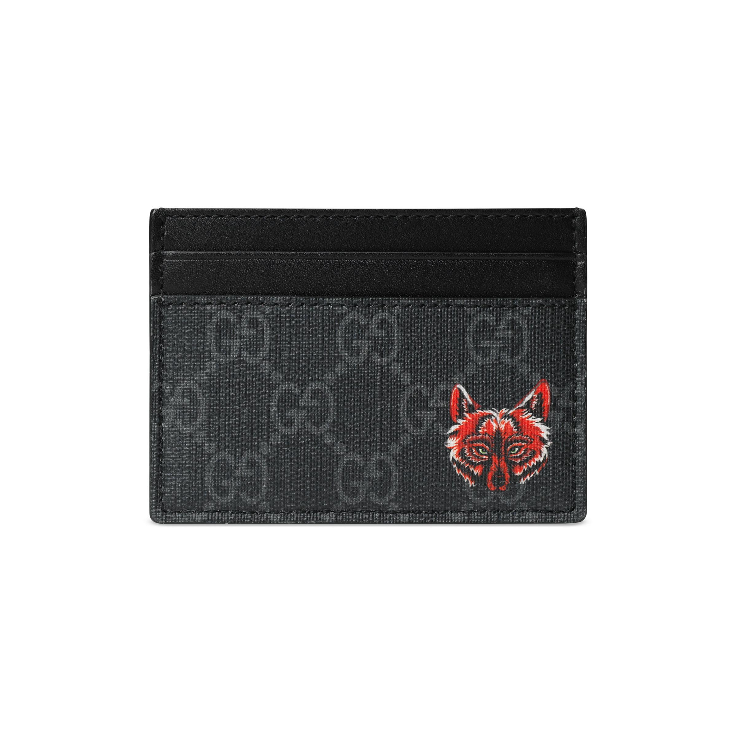 ff9cb6a2c27 Gucci GG Card Case With Wolf Head in Black for Men - Save 53% - Lyst