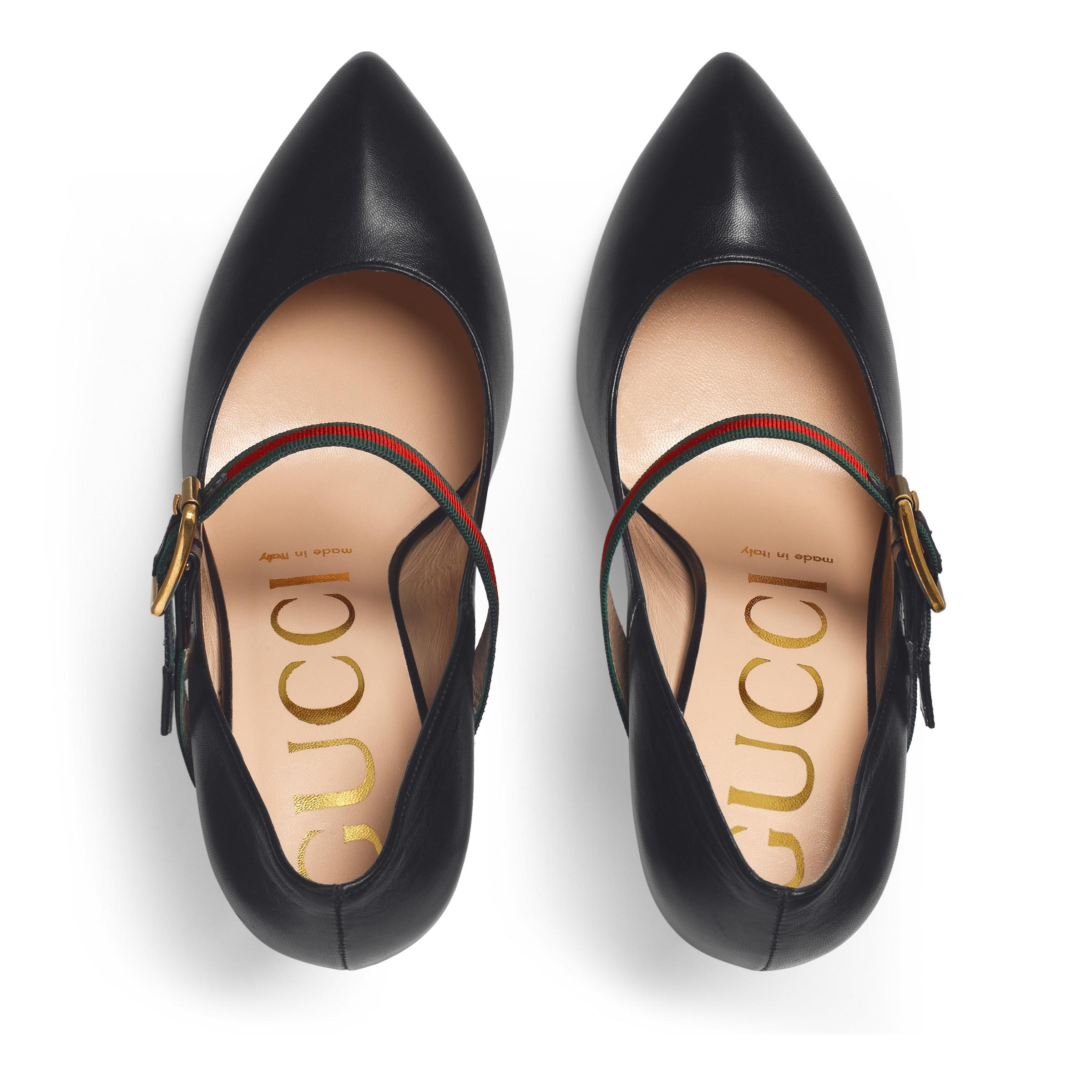 ca98bbac454 Gucci - Black Sylvie Leather Pump - Lyst. View fullscreen