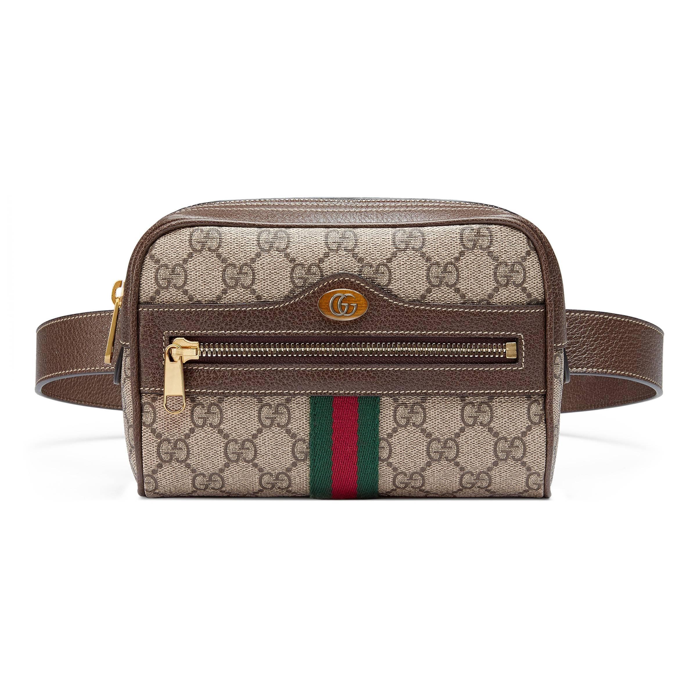 943f67e41 Gucci - Natural Bolsa con Cinturón Ophidia Pequeña GG Supreme - Lyst. Ver  en pantalla completa