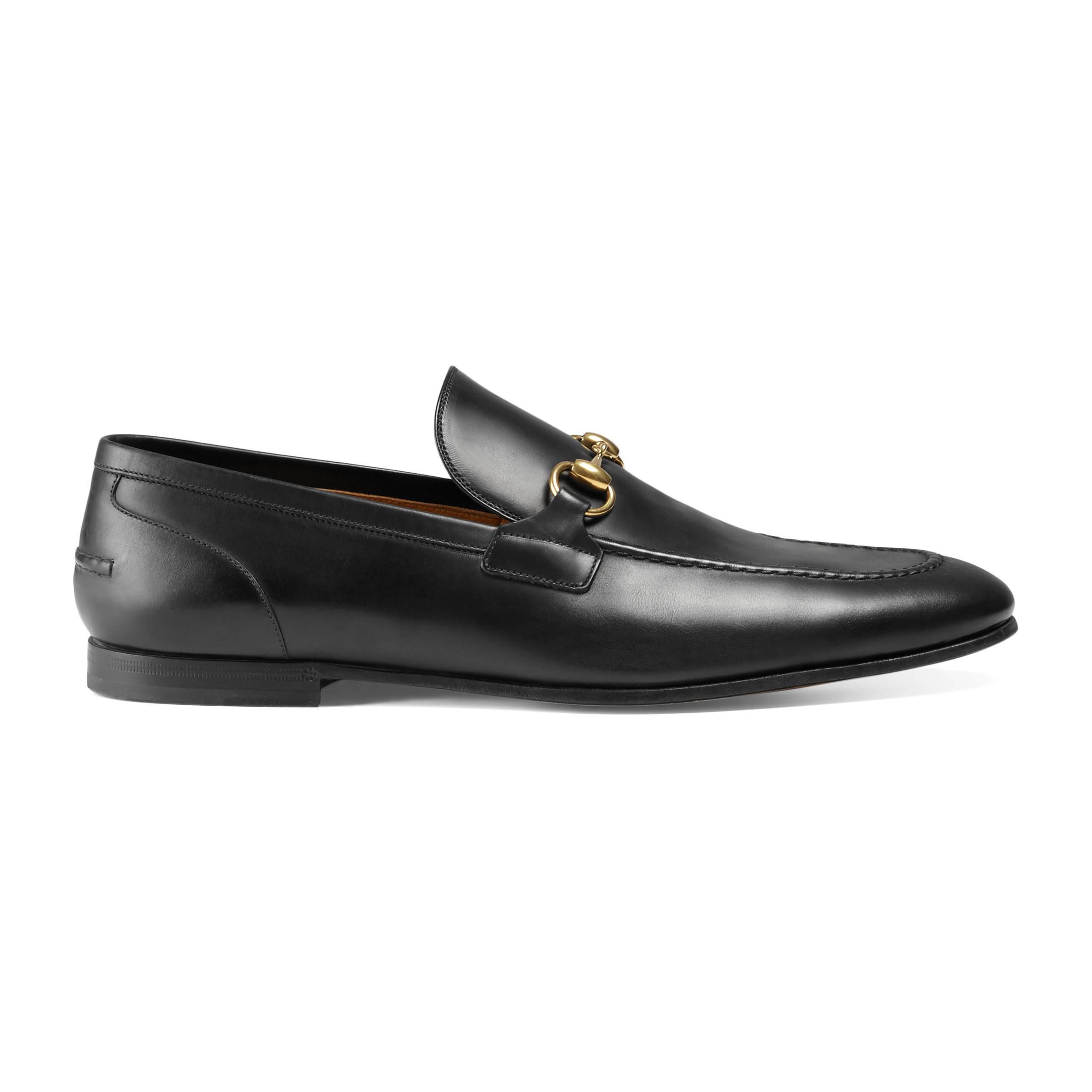 2b3ef258237 Gucci Jordaan Leather Loafer in Black for Men - Save 42% - Lyst