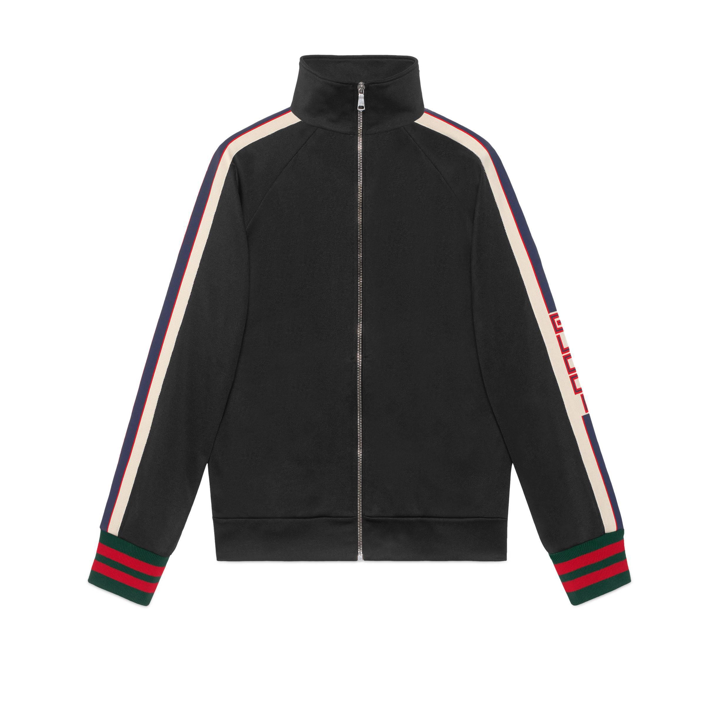f1162e577 Gucci - Black Technical Jersey Jacket for Men - Lyst. View fullscreen