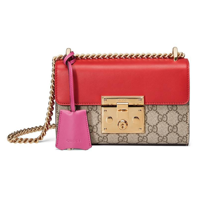 106d165e438 Lyst - Gucci Padlock Gg Supreme Shoulder Bag in Red
