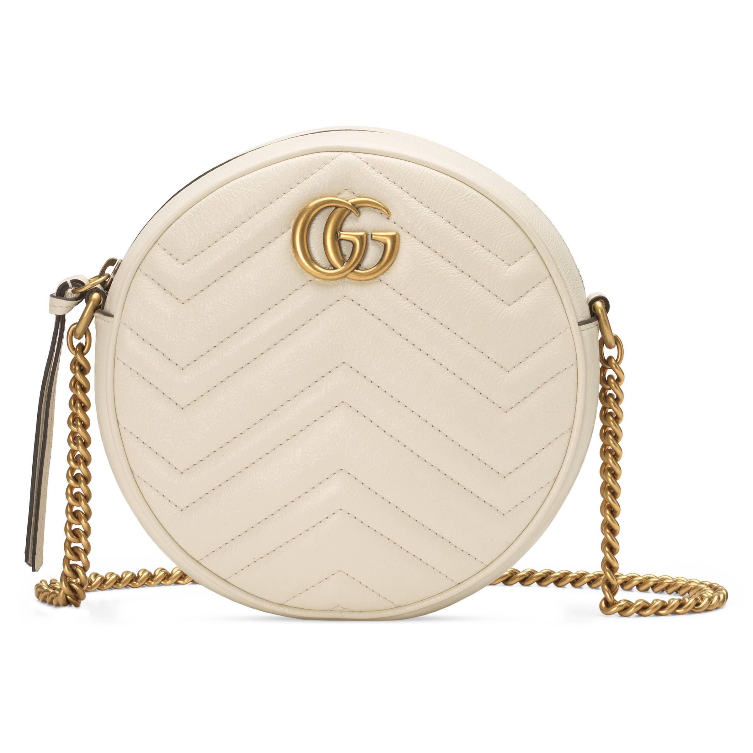 cd2116bf2ac0e2 ... GG Marmont Mini Round Shoulder Bag - Lyst. View fullscreen