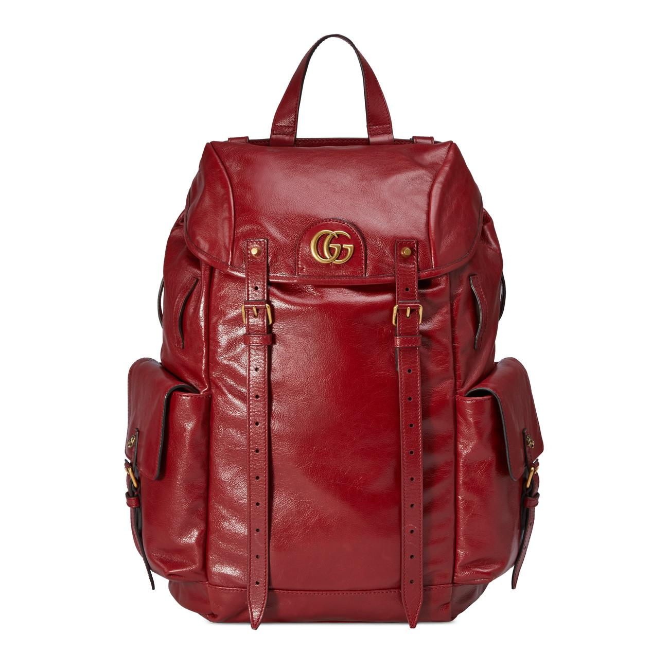 13686f64976c Gucci Re(belle) Leather Backpack in Red for Men - Lyst