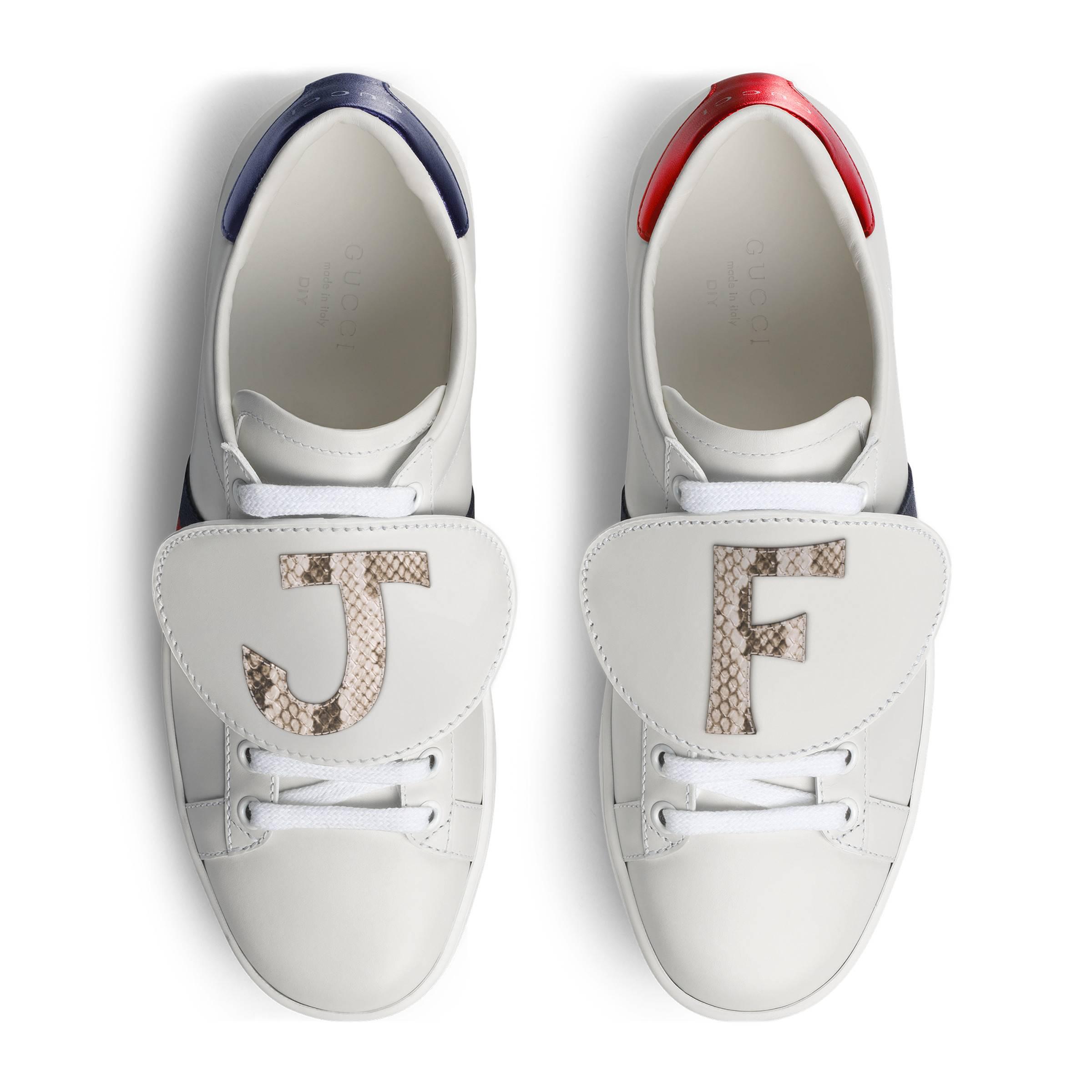 e405b9c7318 Gucci Diy Women s Ace Sneaker - Lyst