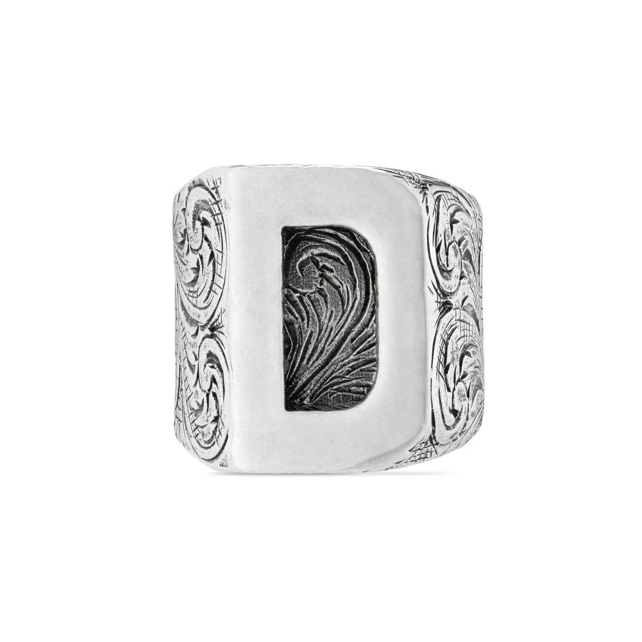 f9261498c1c Lyst - Gucci D Letter Ring In Silver in Metallic