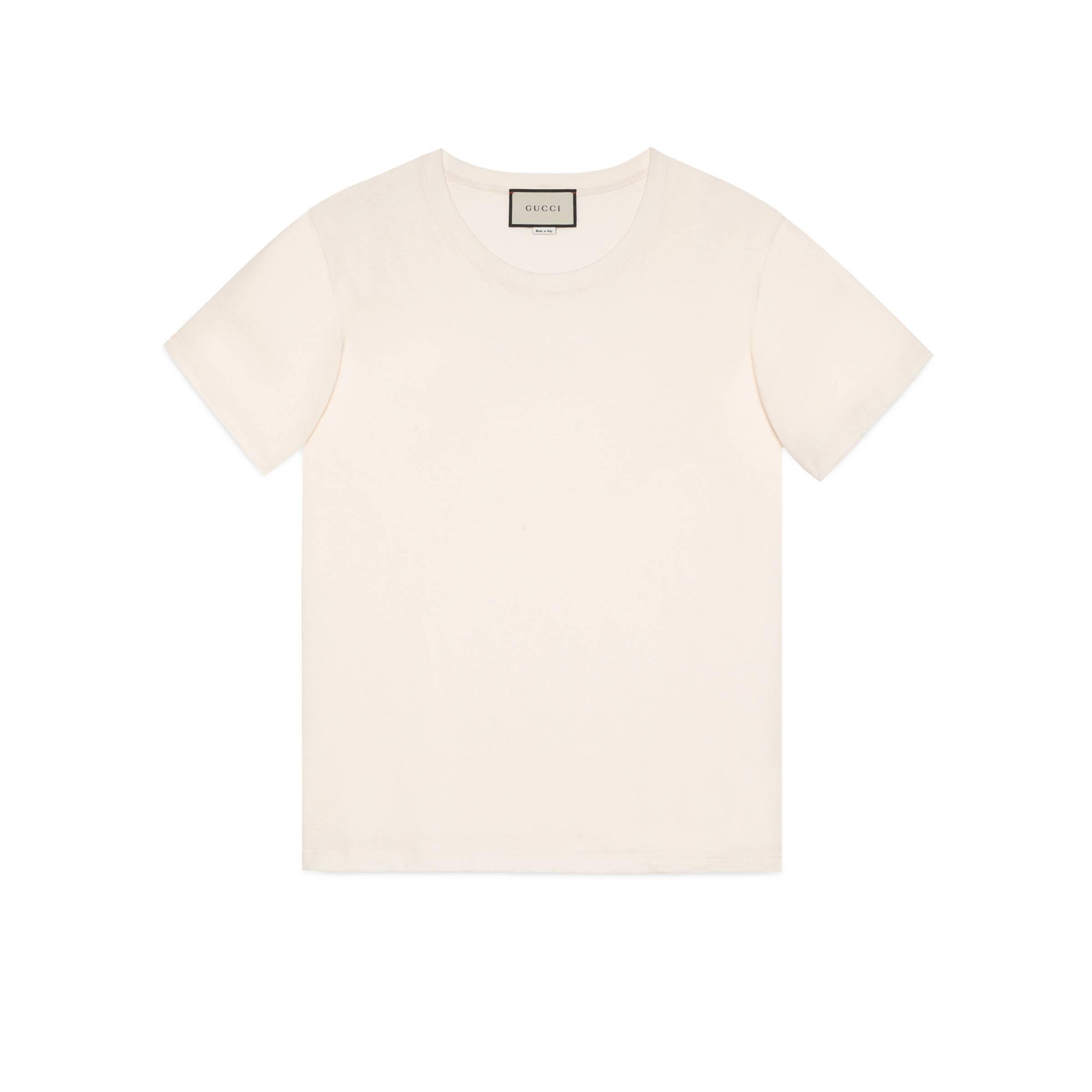 Lyst - Camiseta extragrande con Sello Gucci de hombre de color Blanco 02c722c8848