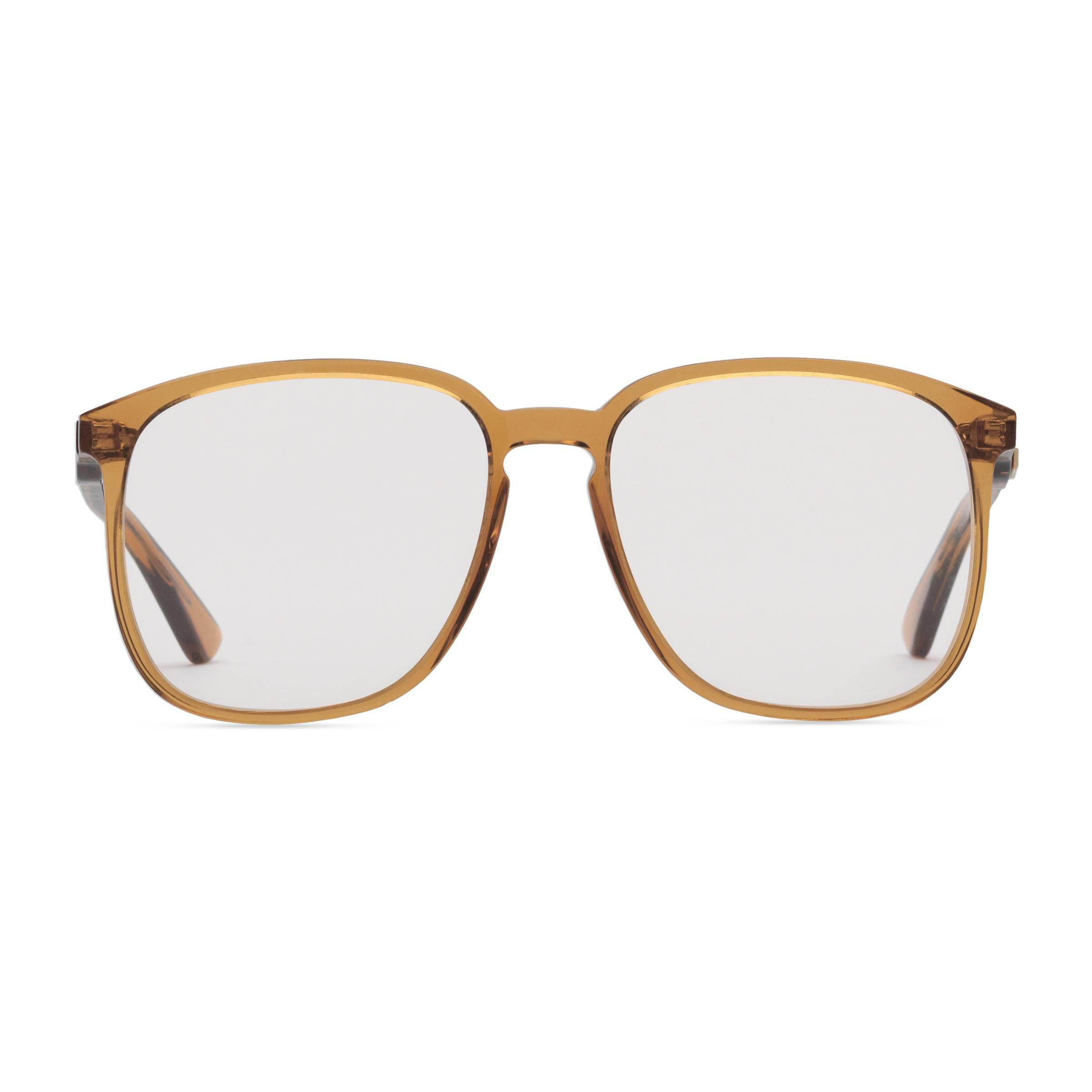 bd6bb399aa1a4 Gucci Square-frame Acetate Glasses in Orange - Lyst