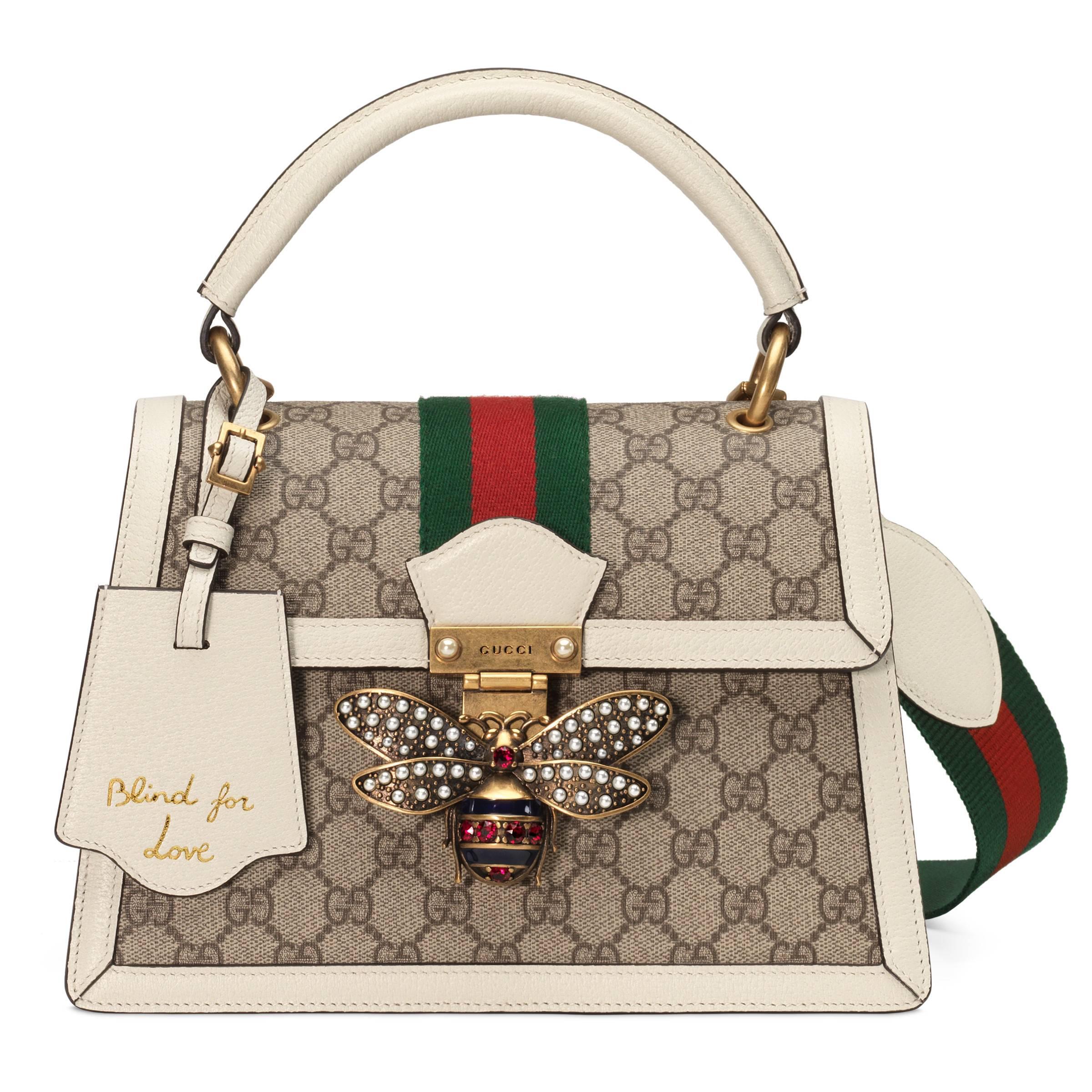 43b359605eb Gucci - Natural Queen Margaret Small GG Top Handle Bag - Lyst. View  fullscreen
