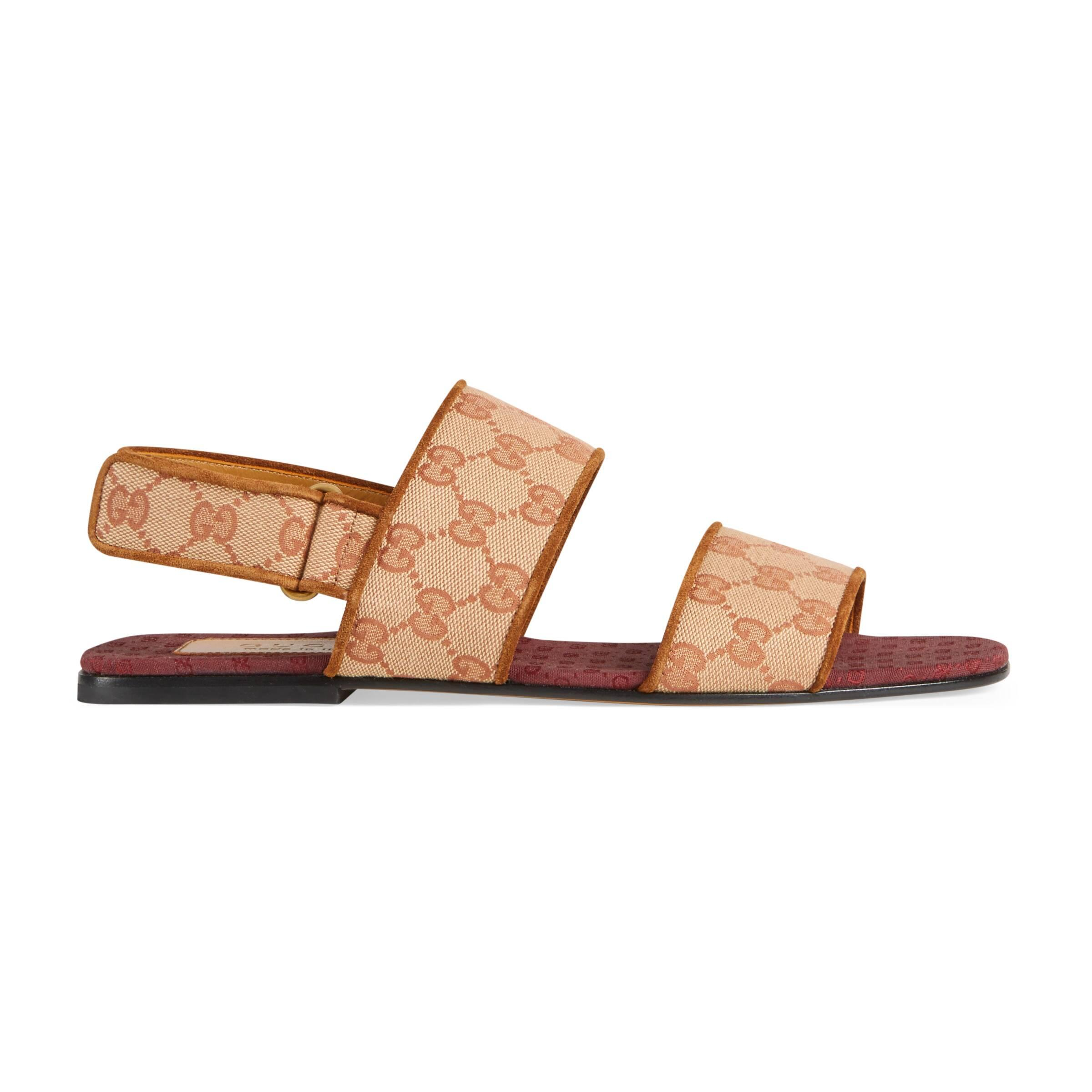 0c22ca65105 Gucci Men s GG Canvas Sandal for Men - Lyst