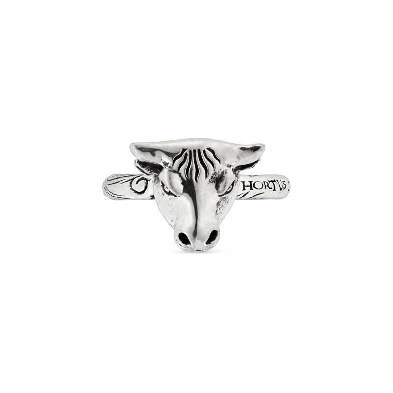 Lyst - Bague tête de taureau Anger Forest Gucci en coloris Métallisé 9799837363e