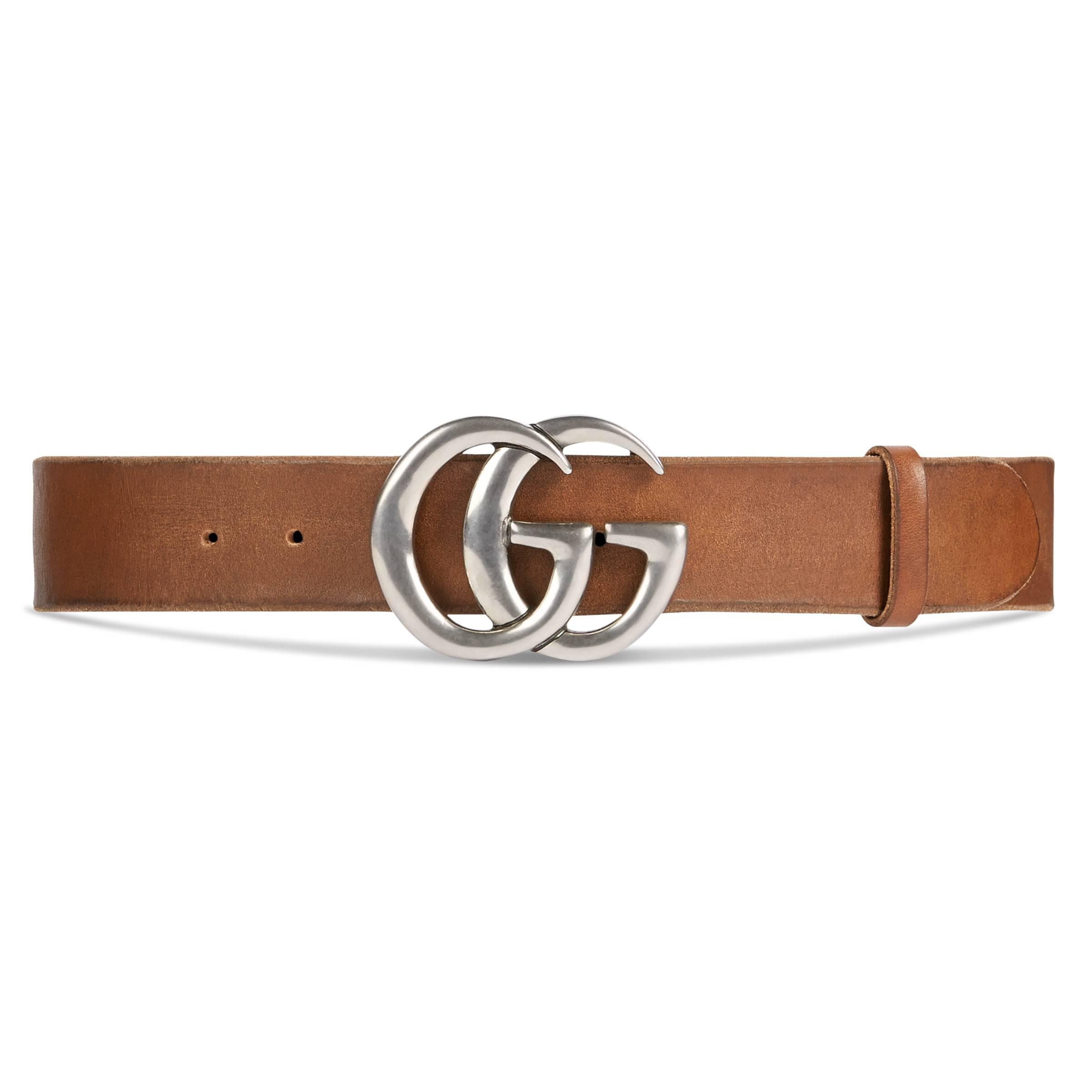 34639c9e723 Gucci Leather Belt With Double G Buckle in Brown for Men - Save 32 ...