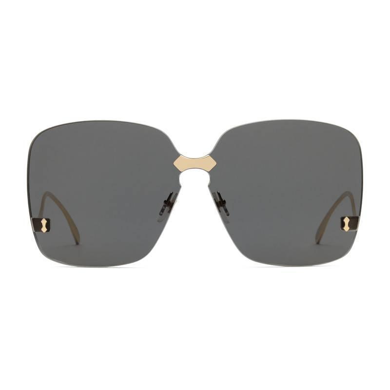 f4d500c29f Lyst - Gucci Square-frame Rimless Sunglasses in Gray