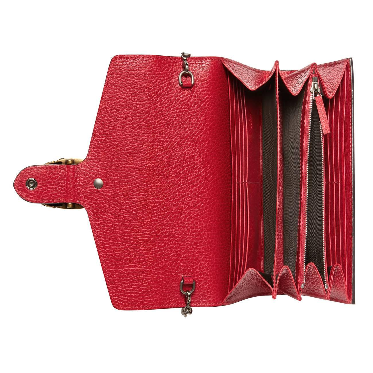 2de6b17dbe0 Gucci - Red Dionysus Leather Mini Chain Shoulder Bag - Lyst. View fullscreen