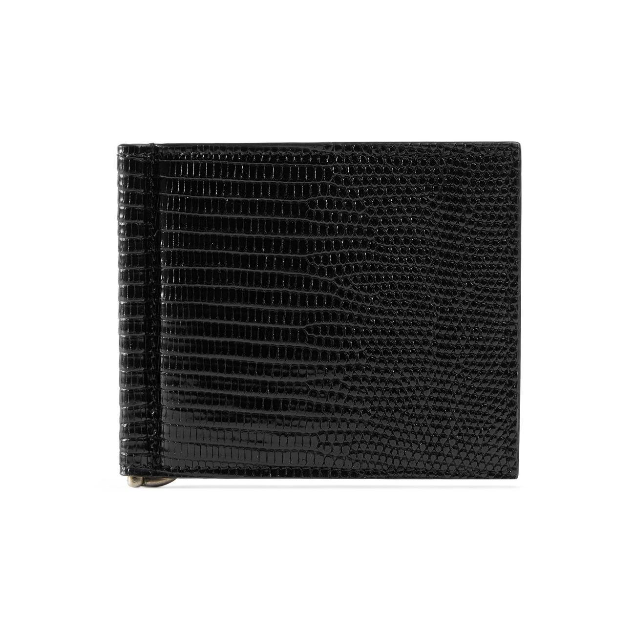 cb317c0691d95 Lyst - Gucci Lizard Money Clip Wallet in Black for Men