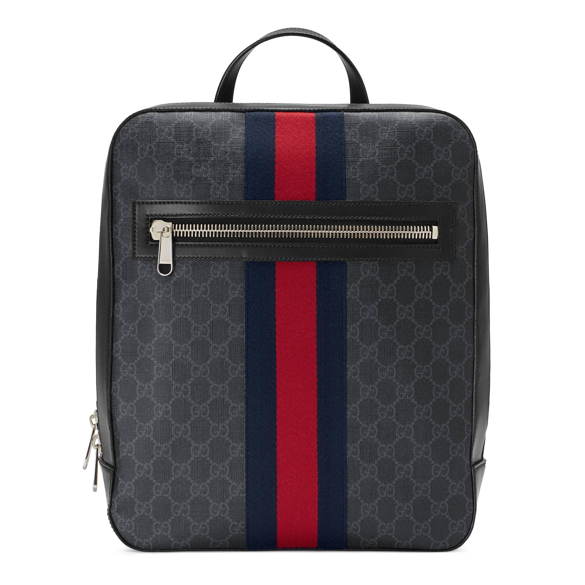 5ab9000a74e Gucci Gg Supreme Canvas Backpack in Black for Men - Lyst