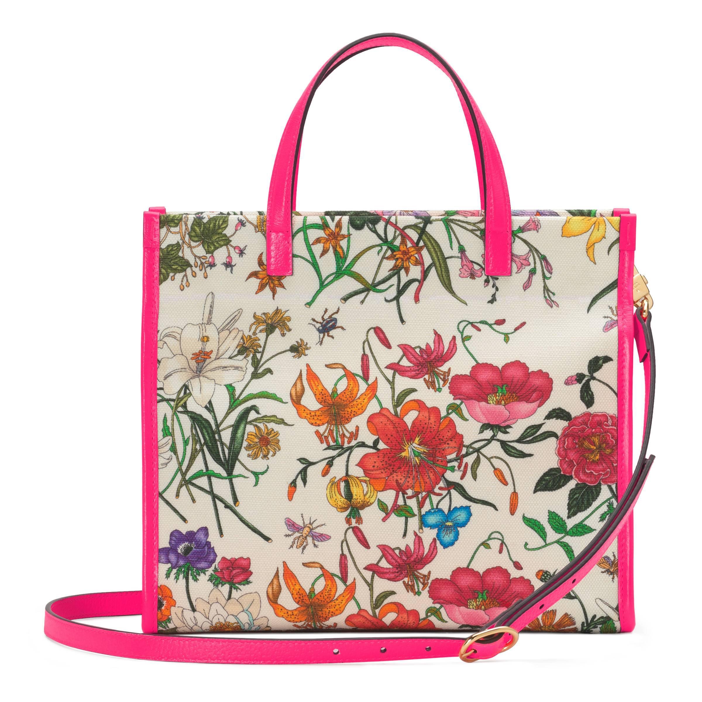 33dfb614a88 Gucci - Multicolor Medium Flora Tote Bag - Lyst. View fullscreen