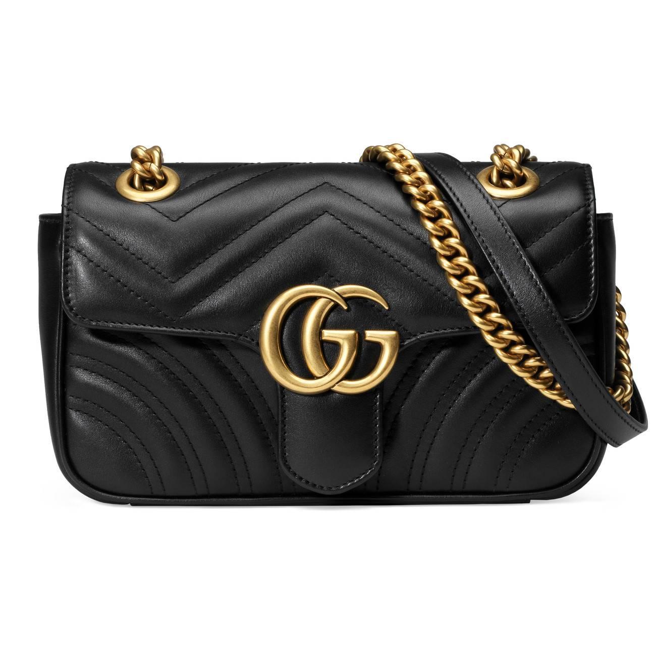 b513916a513b Gucci Gg Marmont Matelassã© Mini Bag in Black - Save 36% - Lyst