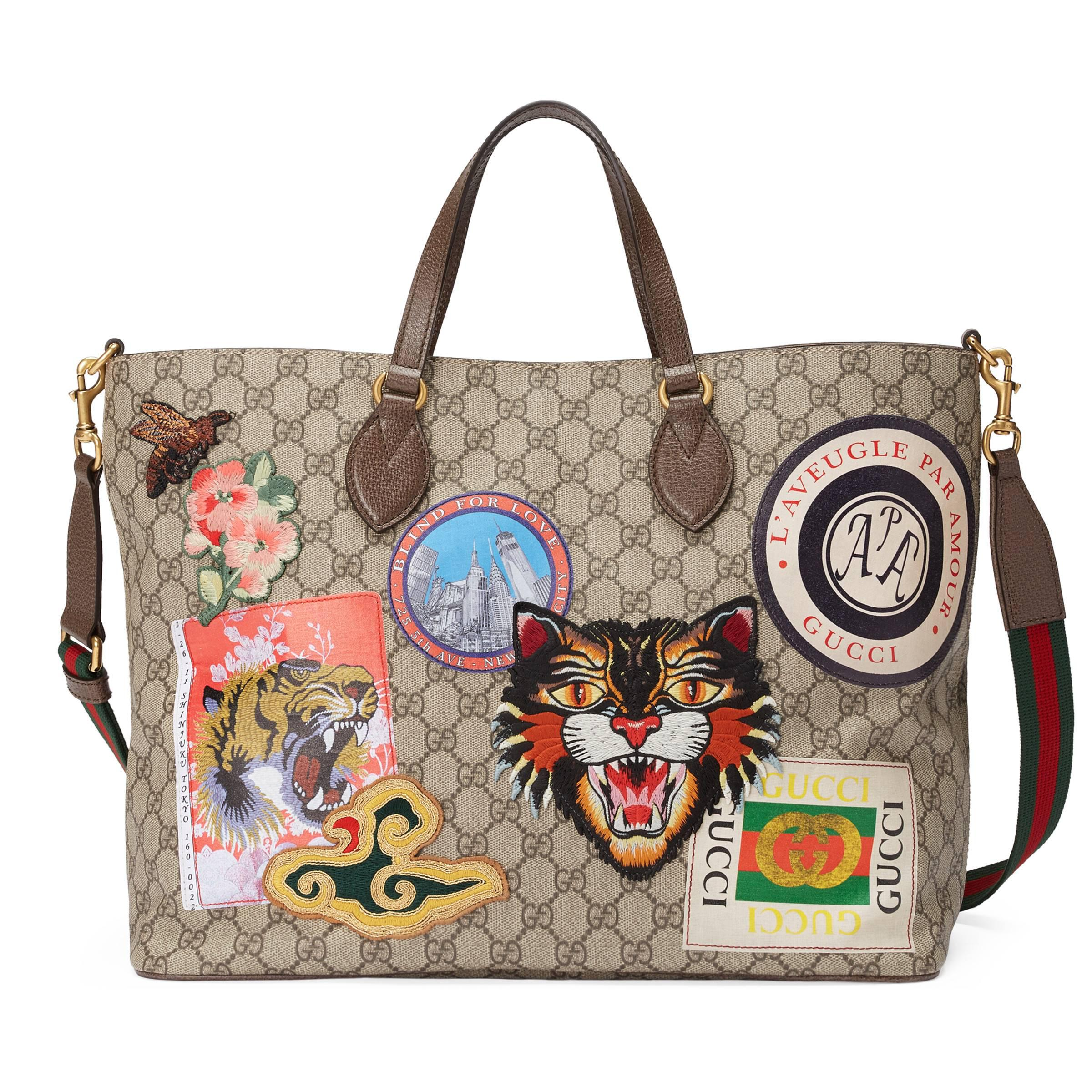cddc2f973a72 Gucci - Natural Courrier Soft GG Supreme Tote - Lyst. View fullscreen