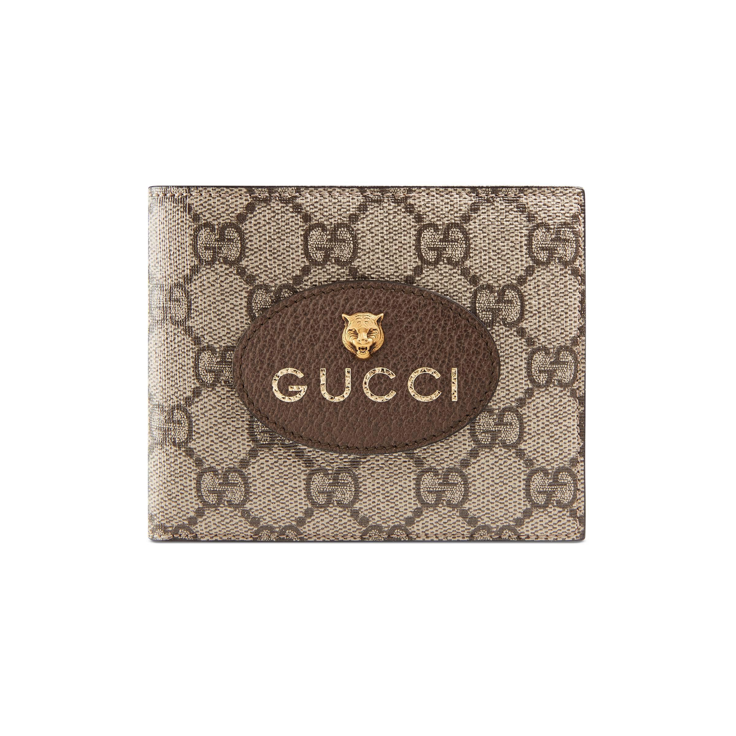 83edacaef27 Gucci - Natural GG Supreme Wallet for Men - Lyst. View fullscreen