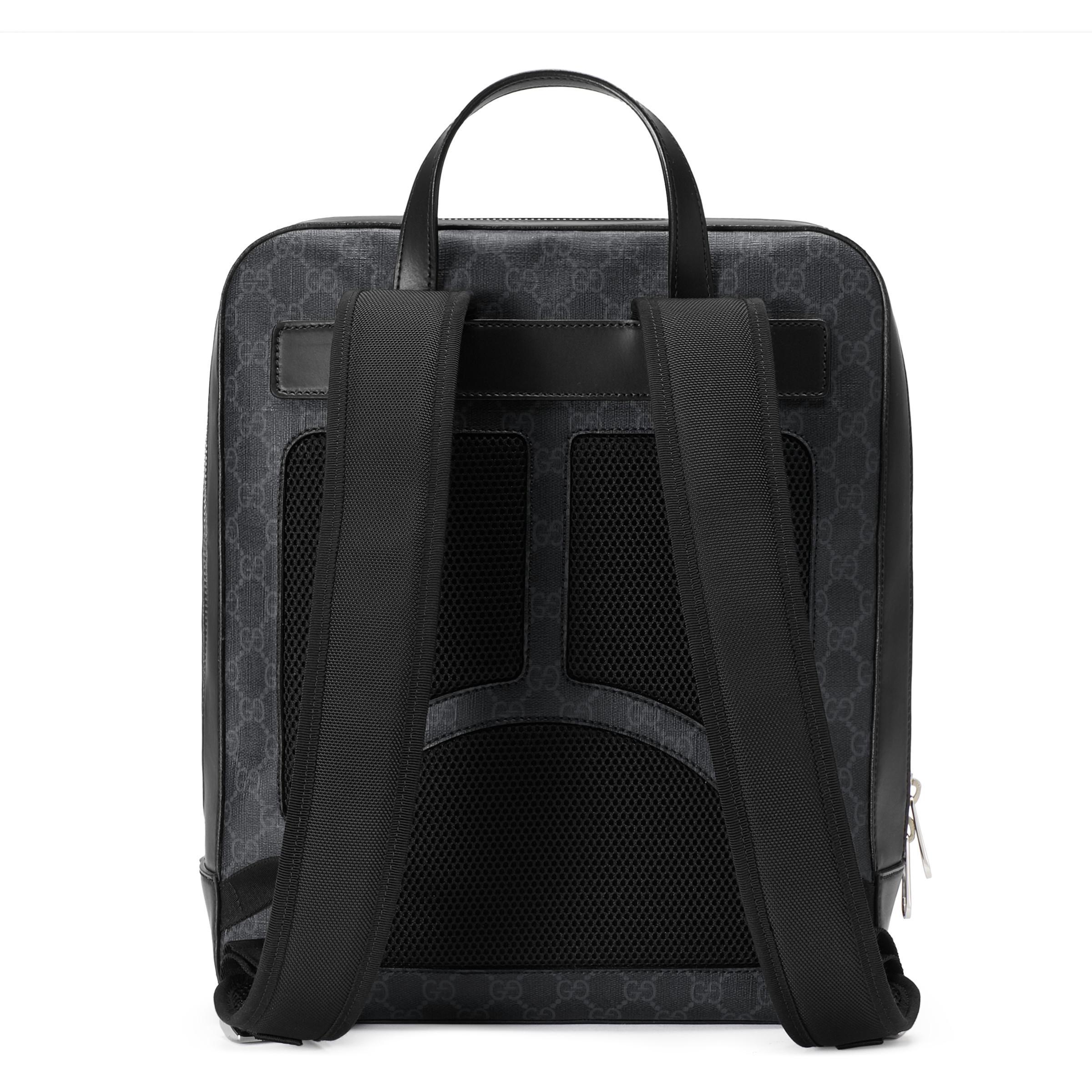 9d64dc2ff94 Gucci - Black Gg Supreme Canvas Backpack for Men - Lyst. View fullscreen