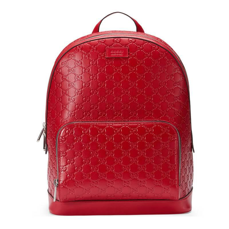 14b4d53f4ef2 Gucci Signature Leather Backpack in Red for Men - Lyst