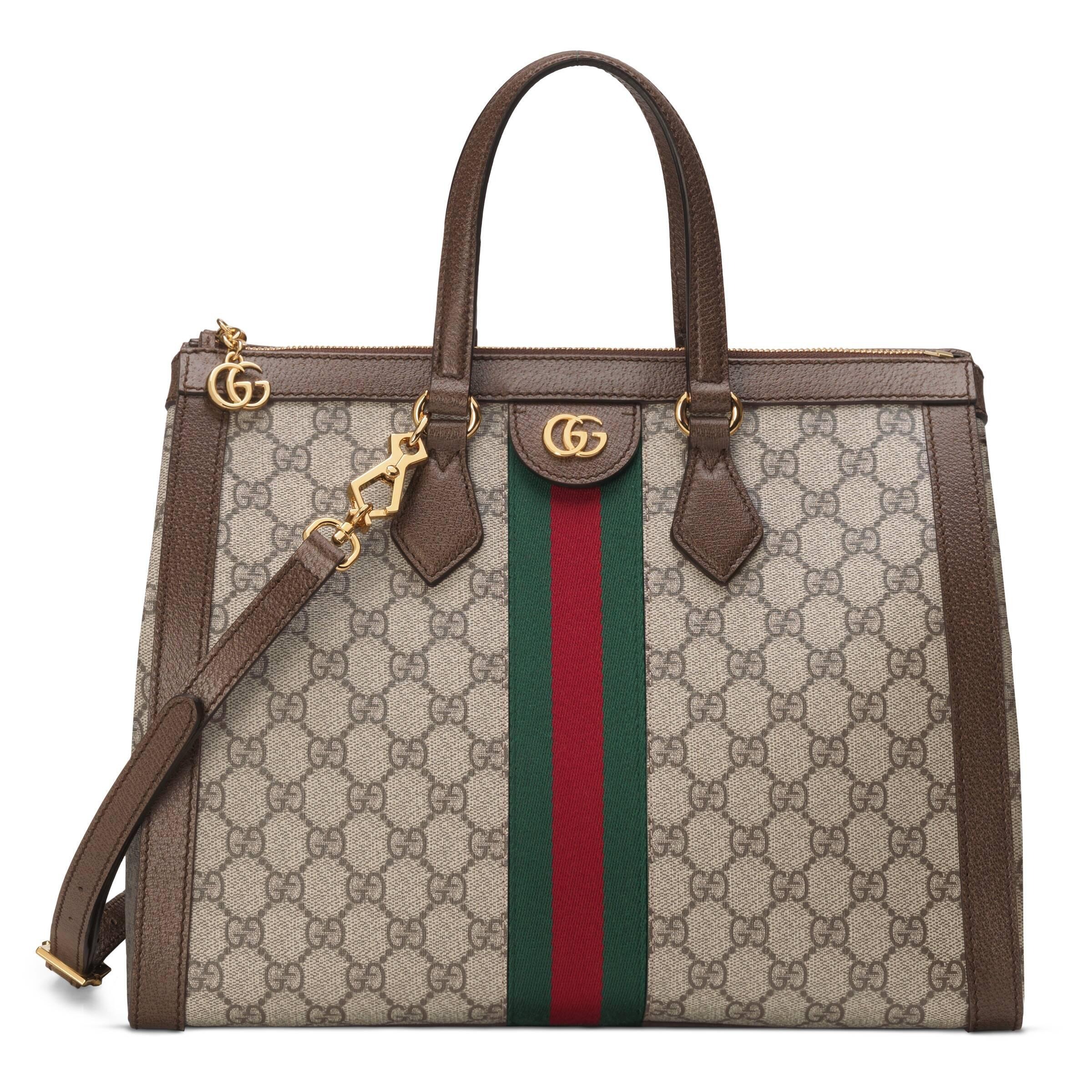 a4e05f642a83 Gucci Ophidia GG Medium Tote Bag in Natural - Lyst